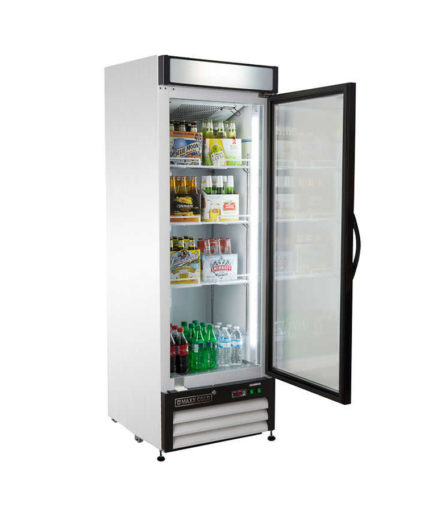1 Door Cooler Refrigerated Vending - Snack Attack Vending Toronto